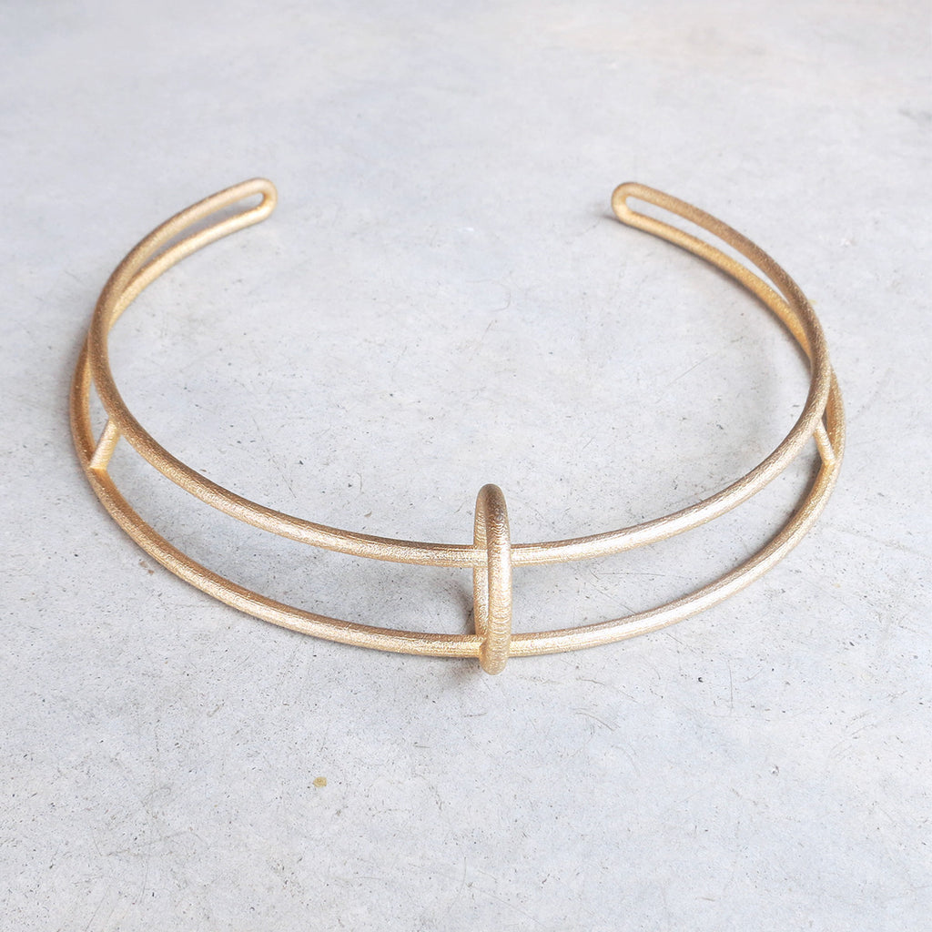 Metalepsis Float Collar in Matte Gold
