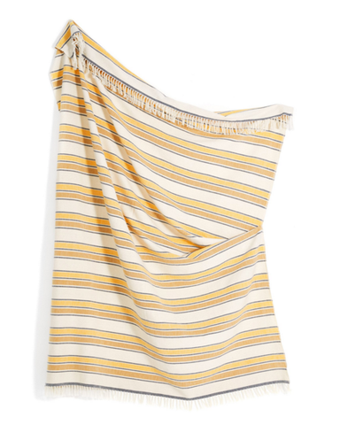 Minna Cotton Gold Stripe Throw