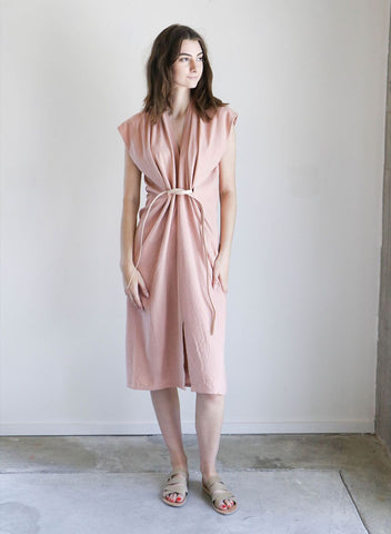 Miranda Bennett Knot Dress in Nico Silk Noil