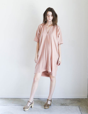 Miranda Bennett Muse Dress In Nico Silk Noil