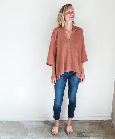 Miranda Bennett Muse Top in Noon Cotton Gauze
