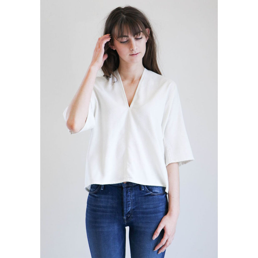 Miranda Bennett Muse Top In Natural Silk Noil