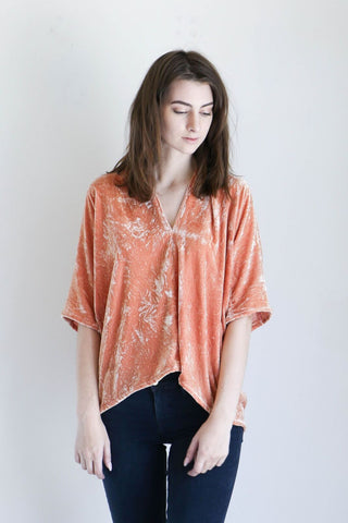Miranda Bennett Muse Top In Anais Velvet