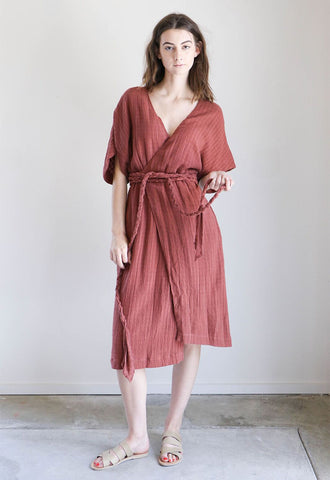 Mirth Caftans Krabi Wrap Dress in Wine