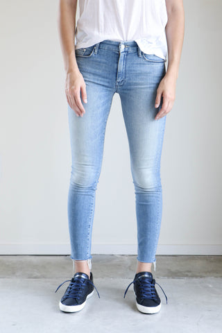 Mother Denim Looker Ankle Fray in When Sparks Fly