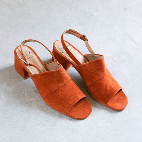 No. 6 Layla Covered Heel in Turmeric