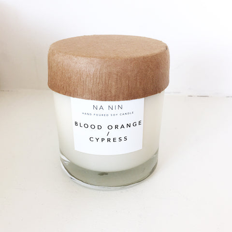 Na Nin Blood Orange + Cypress 8oz Candle
