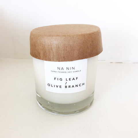 Na Nin Fig Leaf + Olive Branch 8oz Candle
