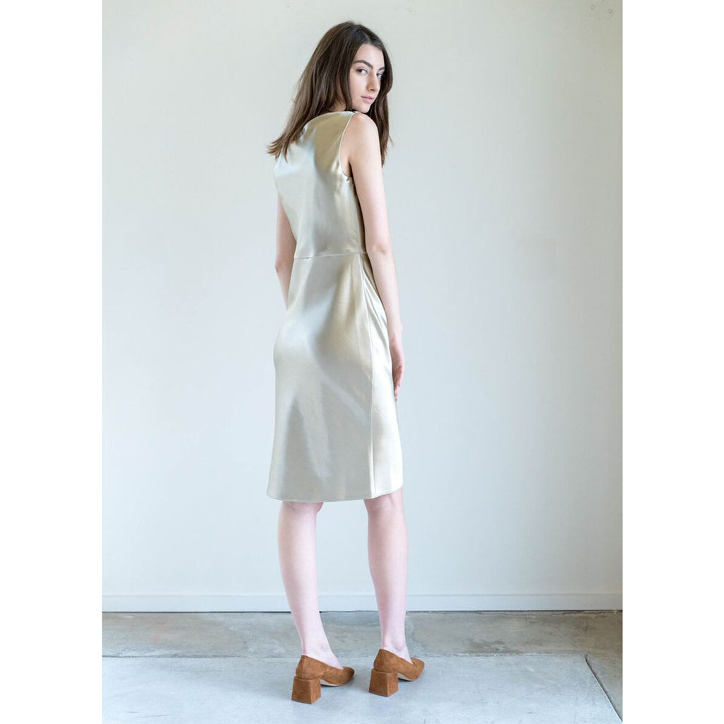 Nili Lotan Anne Dress in Gold