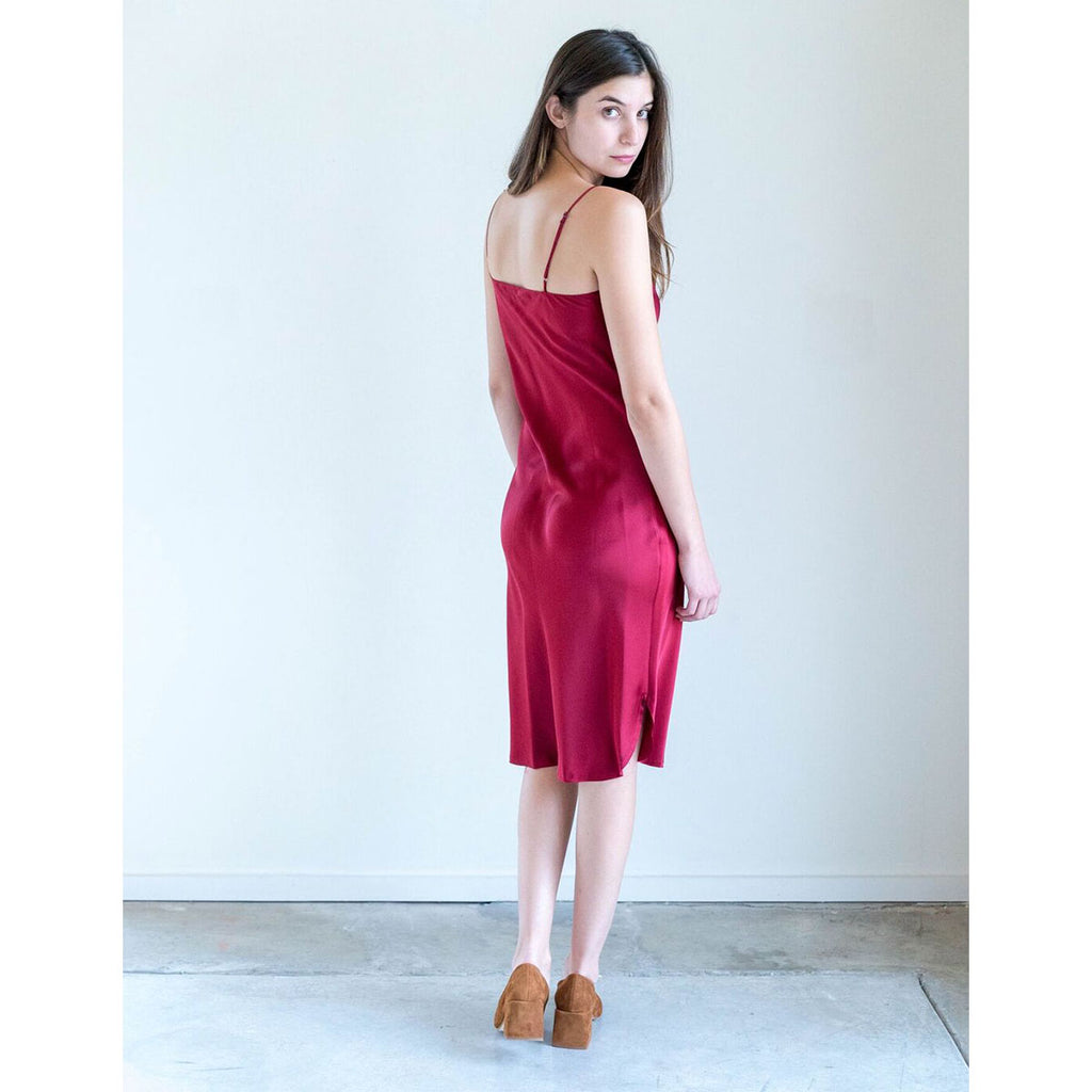 Nili Lotan Short Cami Dress in Crimson