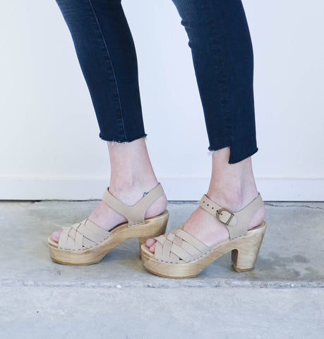 No. 6 Jane Huarache Platform Clog in Bone