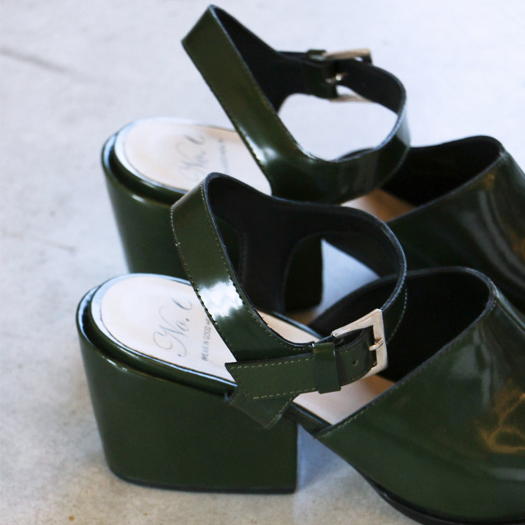 No. 6 Nico Sandal in Bottle Leather