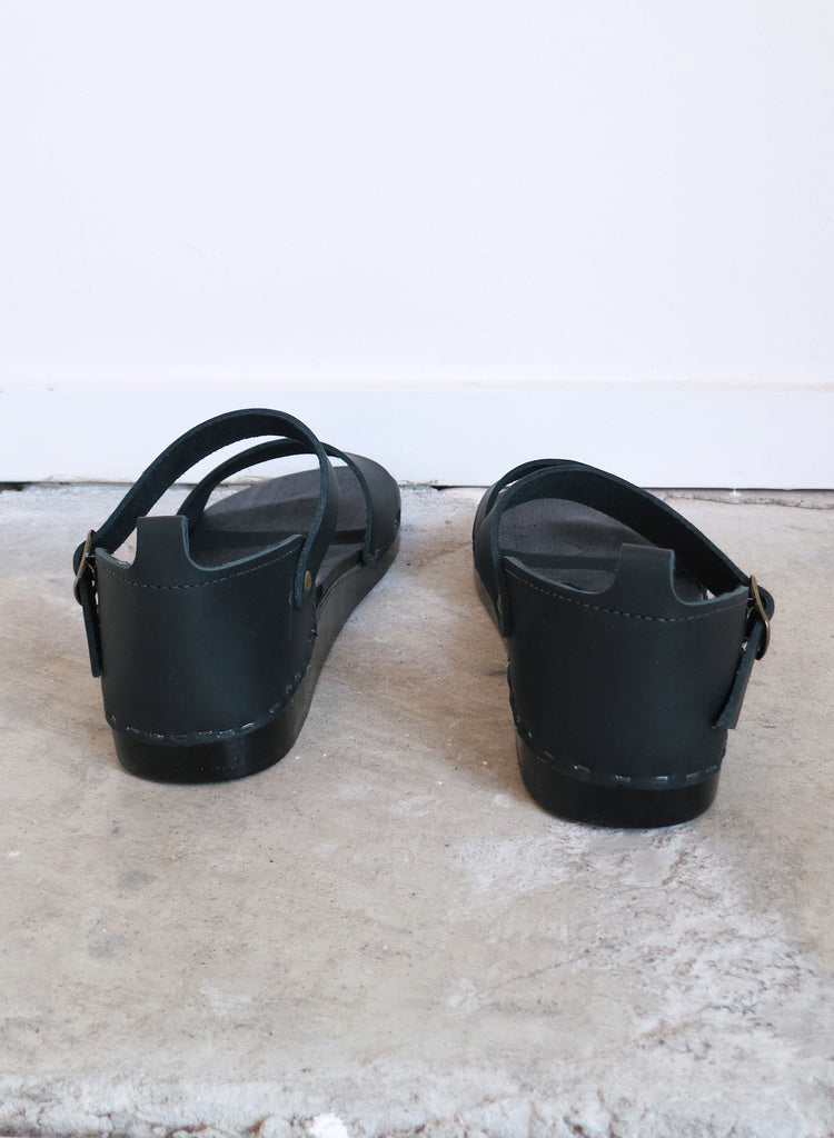 No. 6 Inez Flat Clog in Black