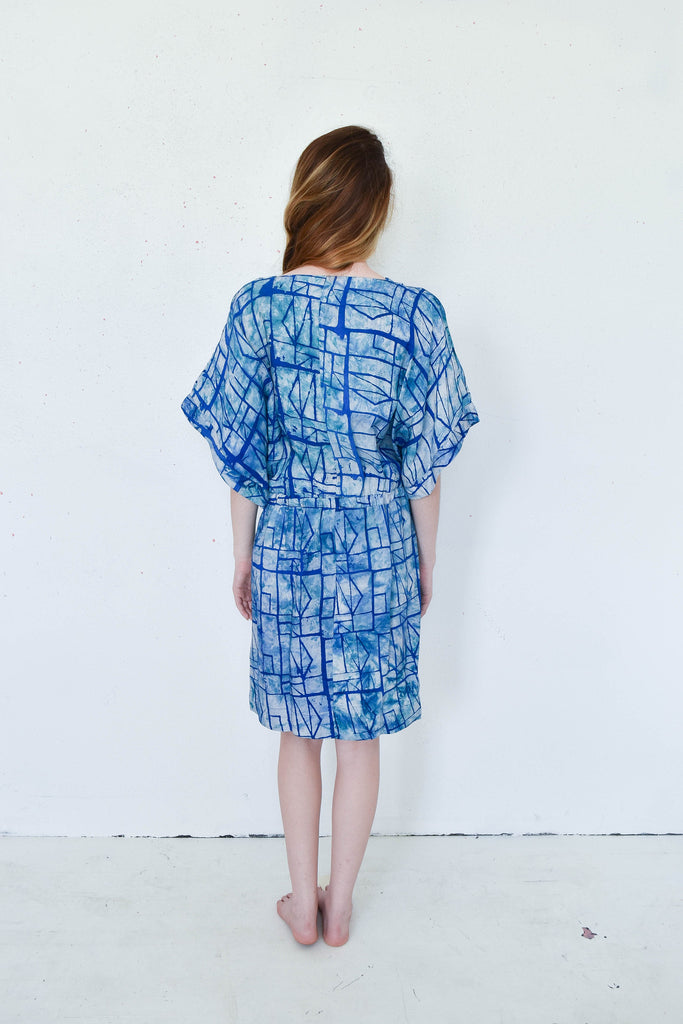 Osei Duro Toss Kimono Dress in Waterbolt Print