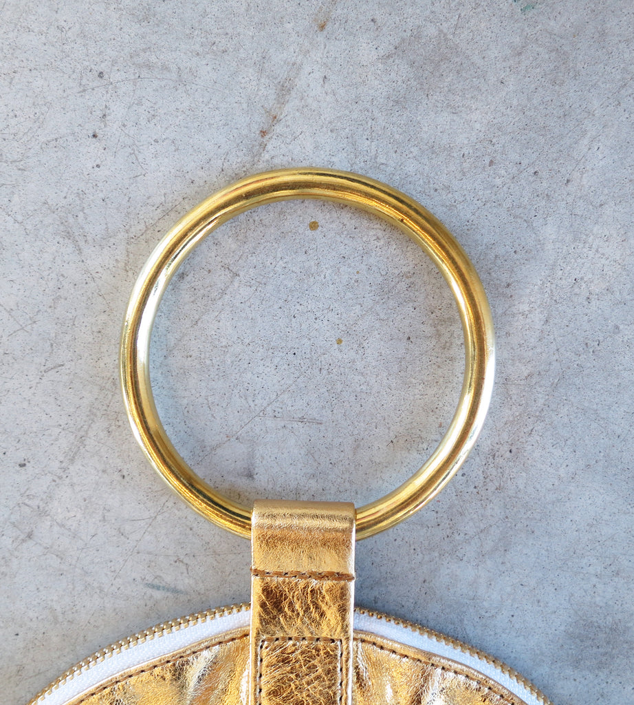 Otaat/Myers Large Ring Pouch in Gold