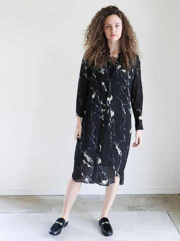 Pas de Calais Black Shirtdress