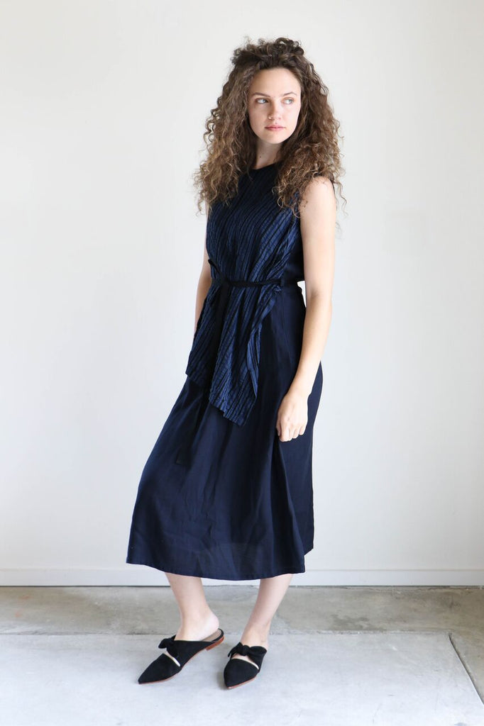 Pas de Calais Navy Layered Dress