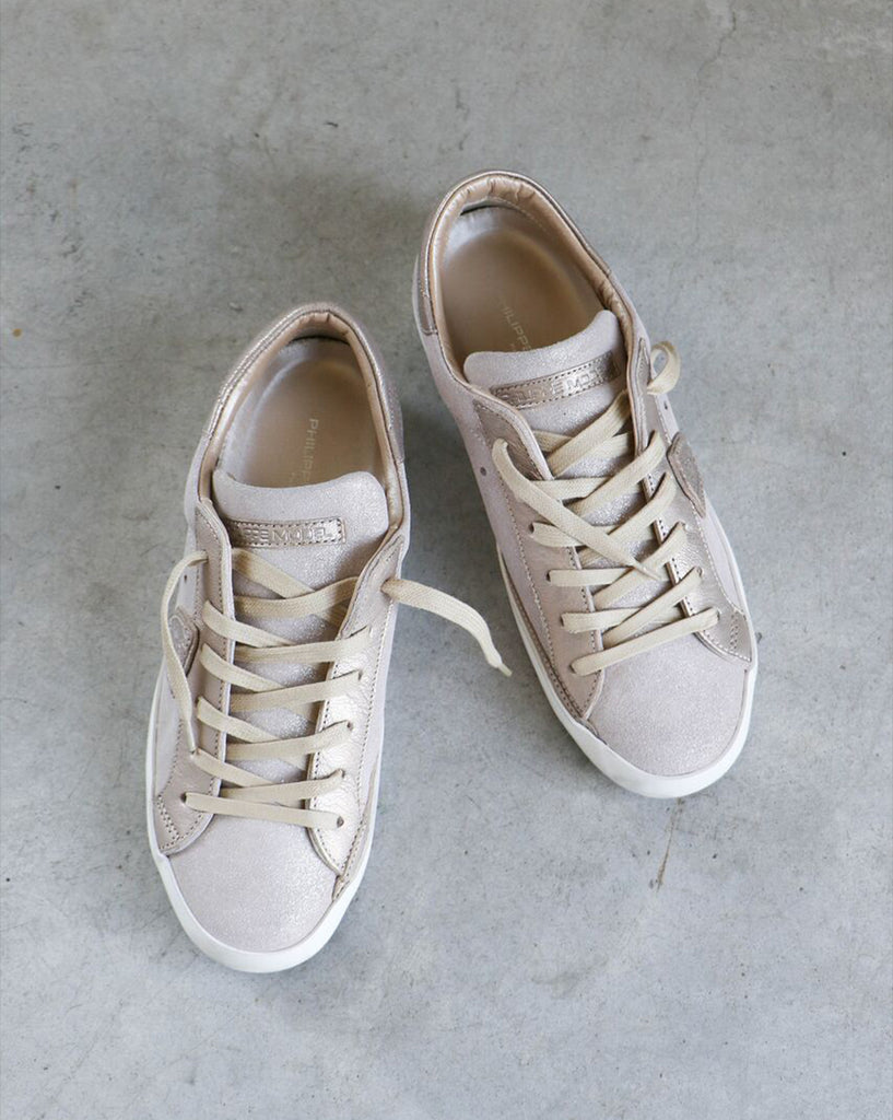 Philippe Model Paris Sneakers in Mixage Rose + Champagne