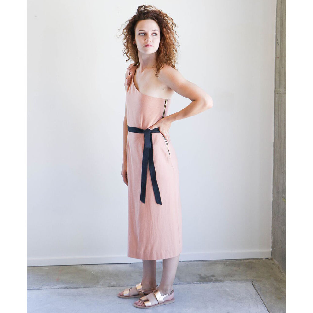 Heidi Merrick Bianca Dress in Blush
