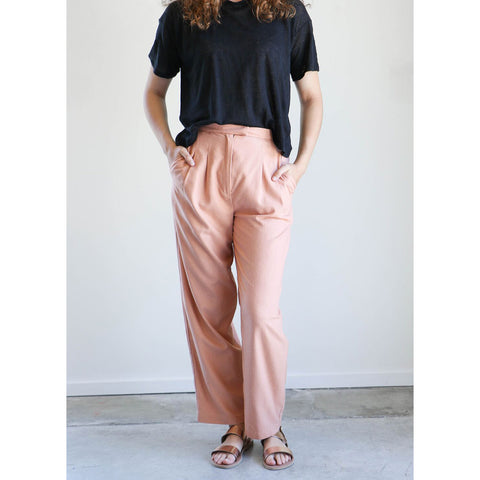 Heidi Merrick Kaolin Trouser in Blush