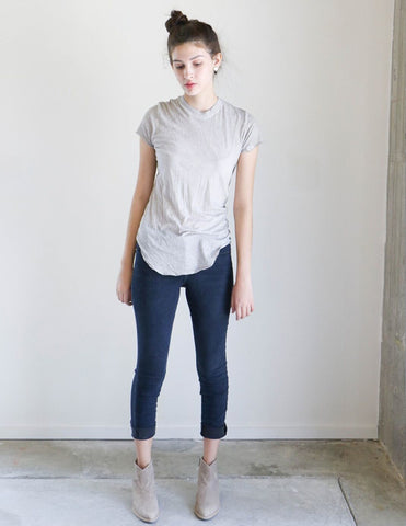 Q House of Basics Cara Tee in Dusty Grey