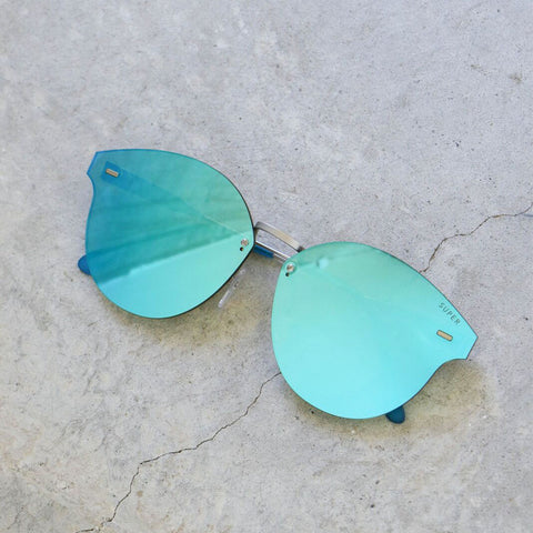 RetroSuperFuture Tuttolente Panama Sunglasses in Azure