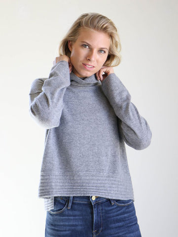 Inhabit Rib Hem Turtleneck in Aster