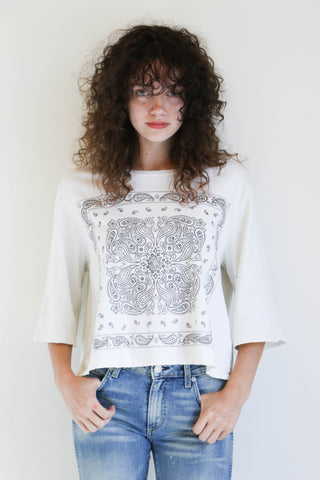 Amo Denim Bandana Tee in White
