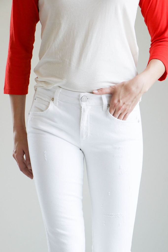 Amo Denim Twist Jeans in Sea Salt