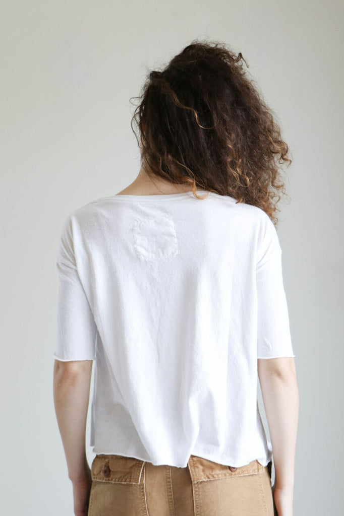 Tee Lab by Frank and Eileen Elbow Tee in Dirty White