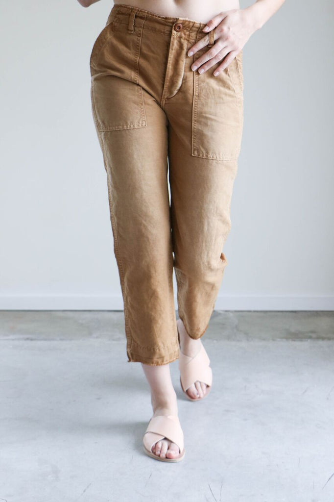 Amo Babe Pants in Tobacco