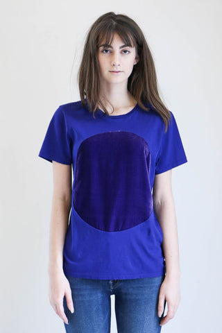 Correll Correll Velvet Circle T-Shirt in Purple