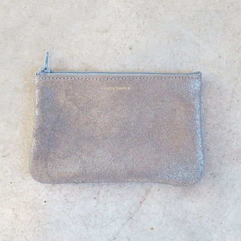 dd0039747a Tracey Tanner Small Flat Zip Pouch in Smoke Sparkle