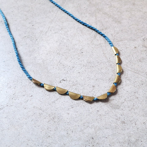 Takara Lunar Necklace in Indigo