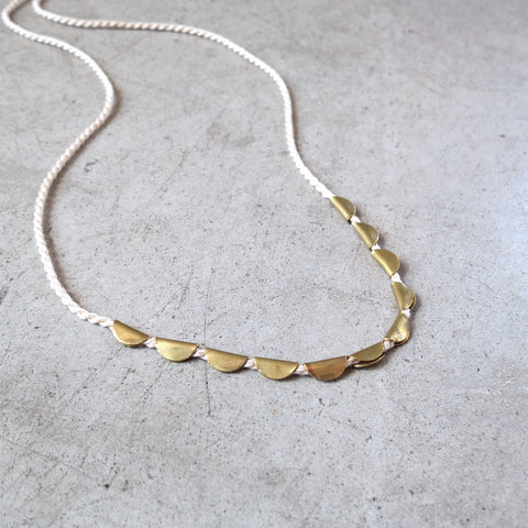 Takara Lunar Necklace in Ivory