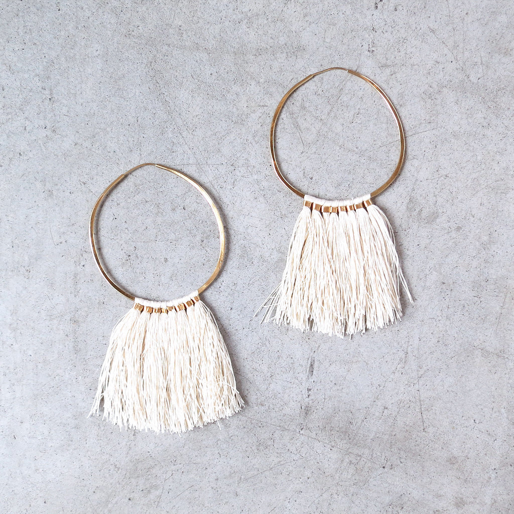 Takara Ornament Hoops in Ivory