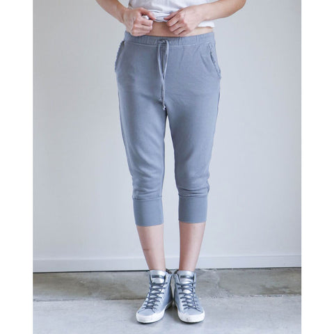 Tee Lab by Frank and Eileen Crop Sweatpant in Shadow