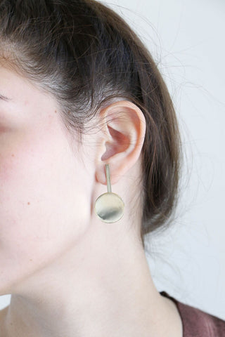 Faris Dot Drop Earrings in Bronze