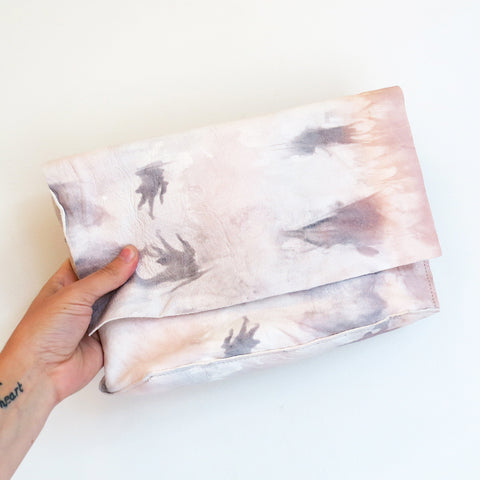 Tracey Tanner Carmen Clutch in Rose Tie Dye