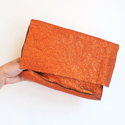 Tracey Tanner Carmen Clutch in Sunset Crinkle