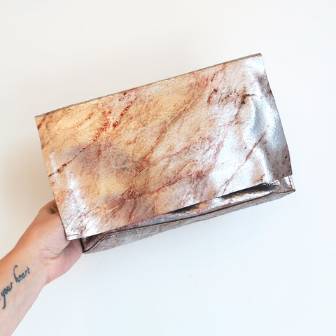 Tracey Tanner Carmen Clutch in Warm Marble