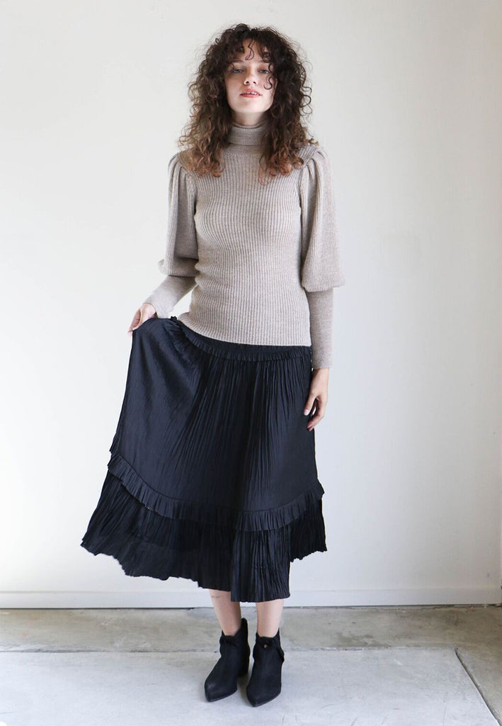 Ulla Johnson Tatiana Skirt in Noir