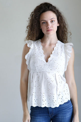 Ulla Johnson Dora Top in Blanc