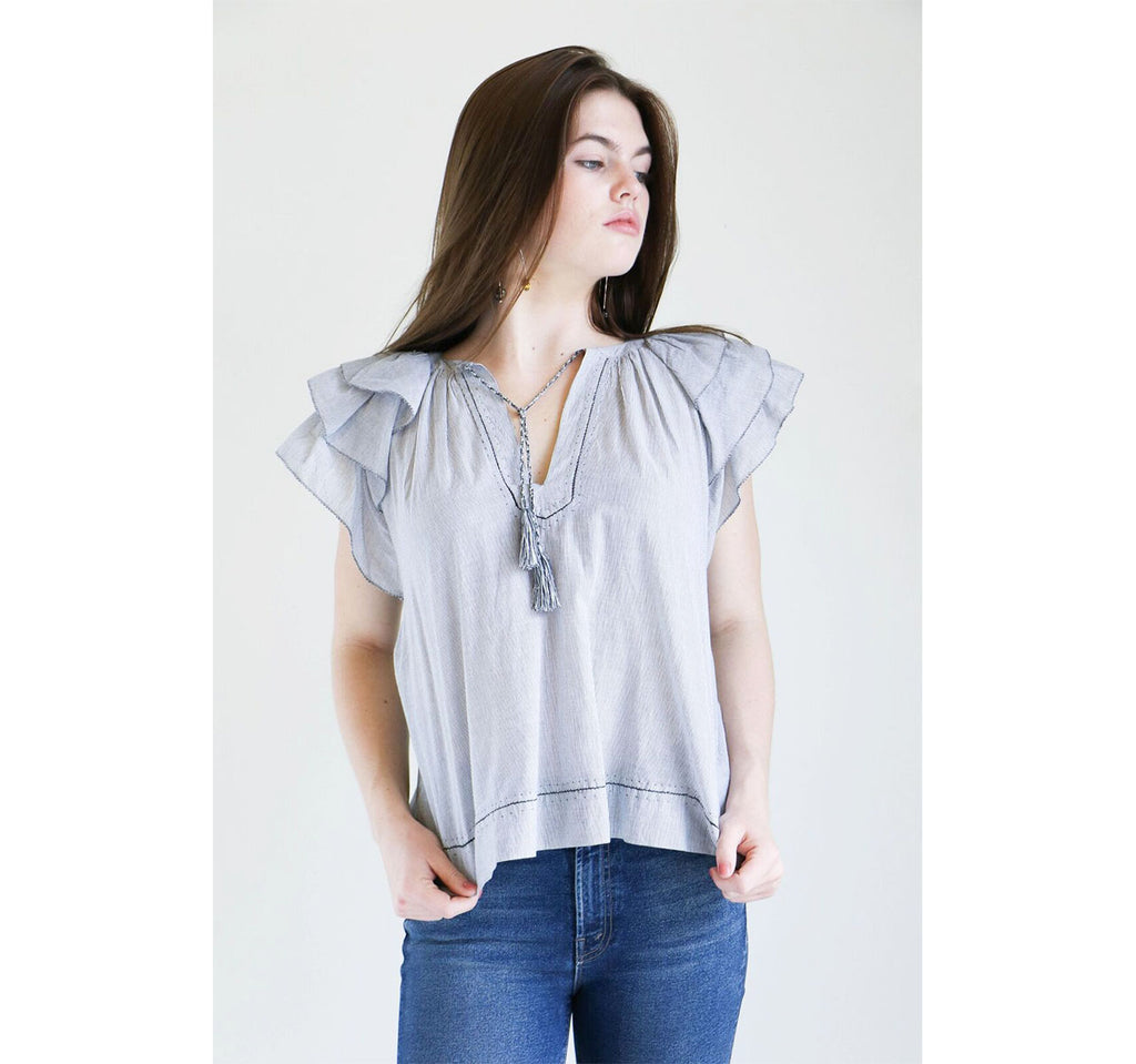 Ulla Johnson Lani Top in Gris