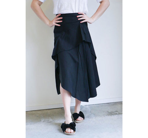 Ulla Johnson Nell Skirt in Noir