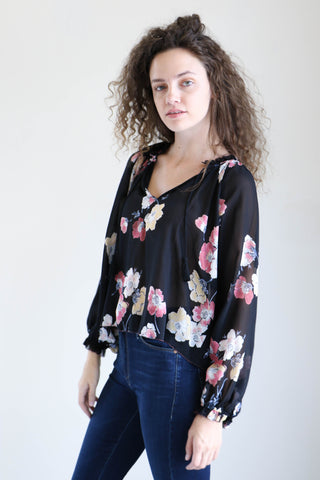 Ulla Johnson Sarna Blouse in Watercolor Floral