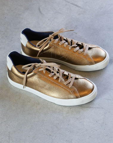 Veja Esplar Pierre Sneakers in Metallic Amber Leather