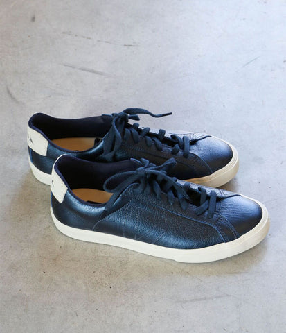 Veja Esplar Pierre Sneakers in Metallic Petrole Leather