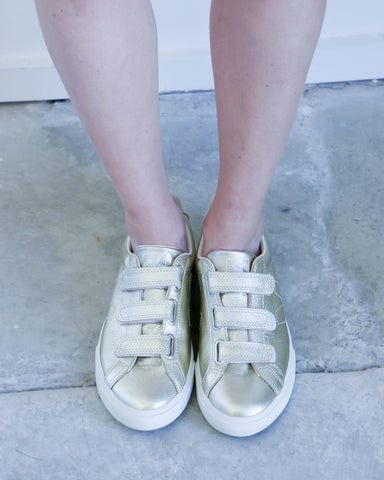 Veja 3-Lock Pierre Sneakers in Gold