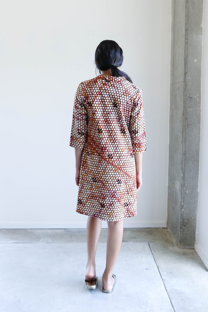 Zuri Shirt Dress in Honeycomb